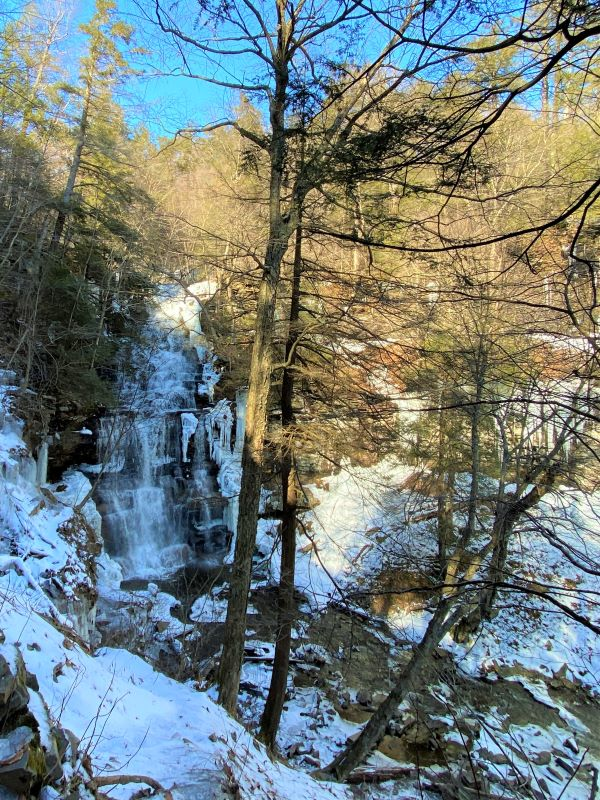 Ganoga Falls at Ricketts Glen State Park in Pennsylvania
