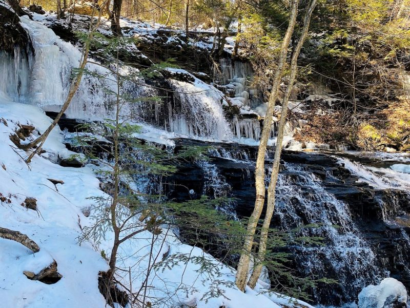 Ice hiking at Ricketts Glen State Park