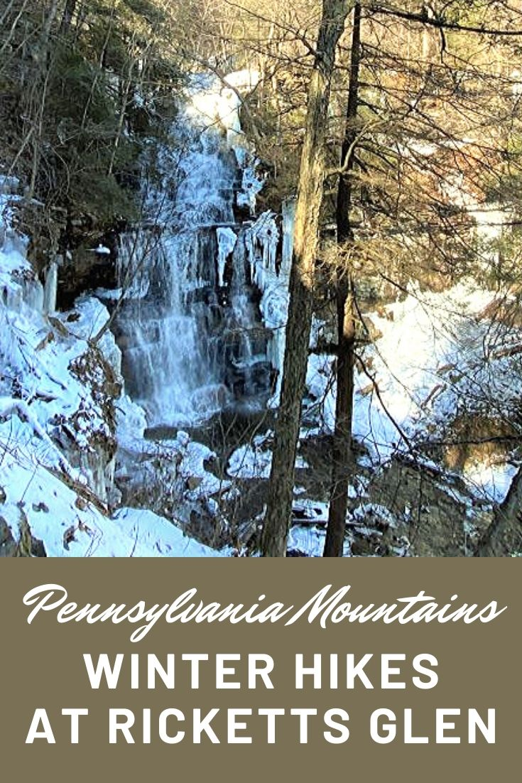 Wondering what to expect when winter hiking along icy trails? You need the right winter hiking outfit to stay warm, dry and safe when ice hiking and ice climbing along waterfall trails. Read to learn what to expect when ice hiking, how to use crampons, ice picks and other climbing gear. We hiked Ricketts Glen State Park in Pennsylvania along the falls trail to Ganoga Falls in the Endless Mountains -- one of the most beautiful mountain climbs in the US.