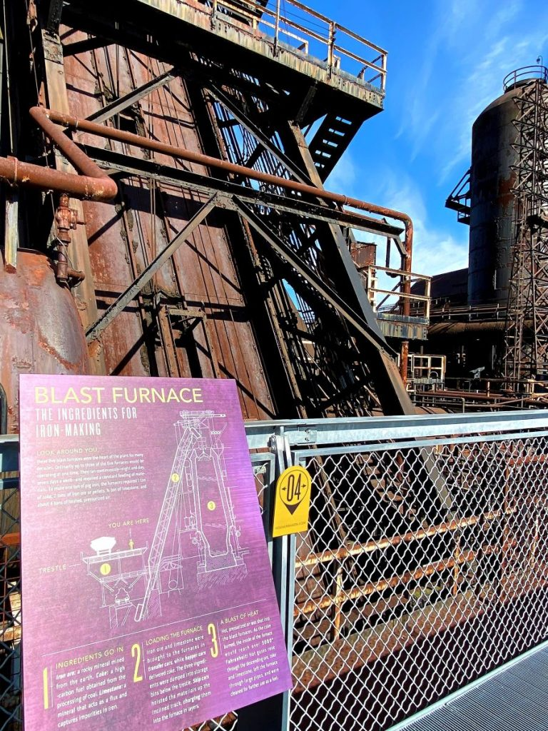 Hoover-Mason Trestle takes visitors close to the blast furnace and other parts of the steel stacks at Bethlehem Steel in the Lehigh Valley