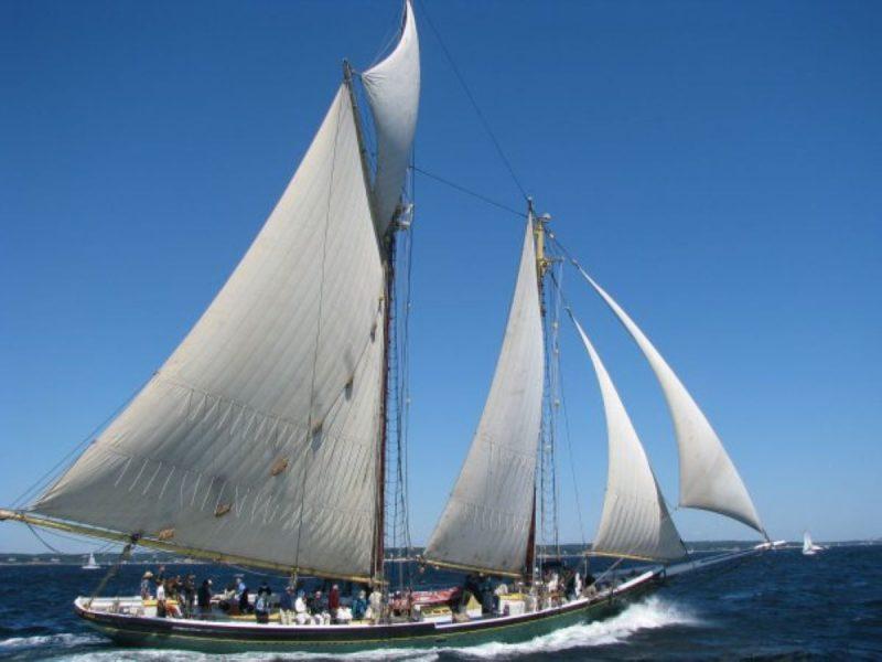 Tall ships, Lettie G. Howard, in Lake Erie for the Erie Tall Ships Festival.