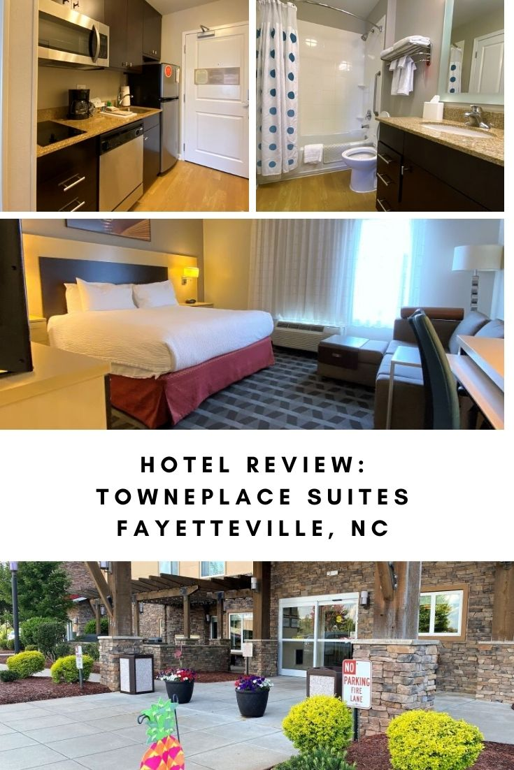 A southern welcome from the TownePlace Suites by Marriott in Fayetteville, NC. Close to I-95, this all suite hotel has lots of space for families, including full kitchens (no oven), free breakfast, pool, gym, and free wifi. This pet friendly hotel is a good option for families visiting the area or who are passing through for vacation. Tons of nearby restaurants, grocery shopping and outdoor attractions make it a great spot for a weekend getaway, too. This is a Marriott Bonvoy property, following all Marriott safety protocols at this time.