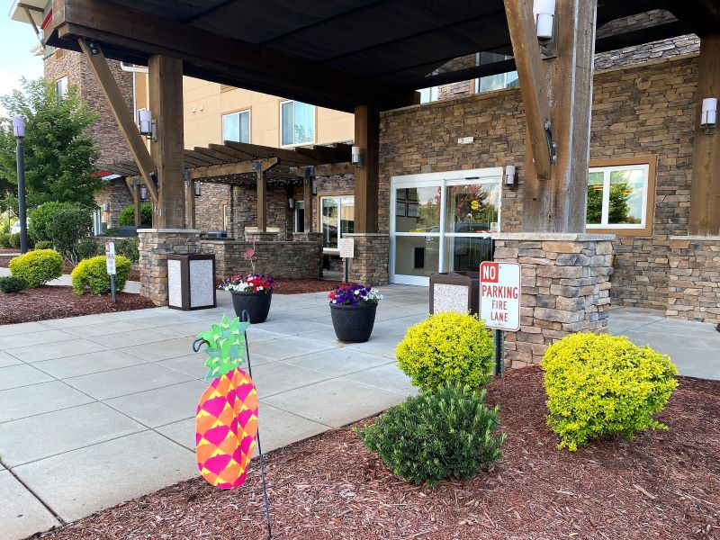Entrance to the TownePlace Suites by Marriott Hotels in Fayetteville, NC