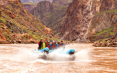 White Water Rafting on the Colorado River with a guide from the Hualapai Tribe, an exhilerating adventure to consider on Grand Canyon vacations for families