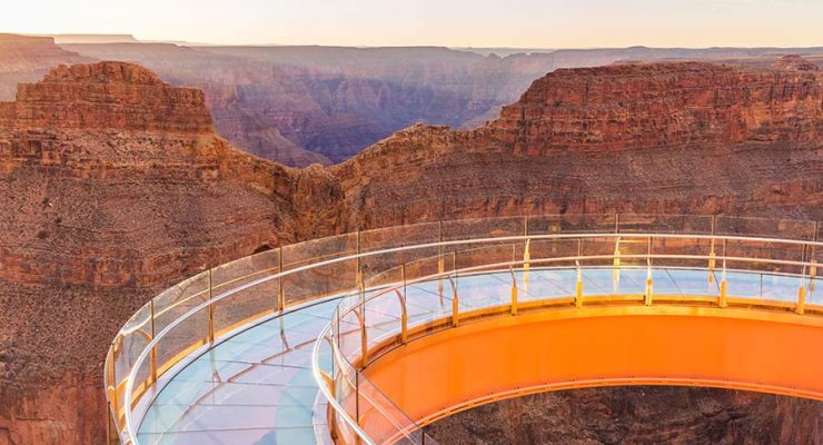 Skywalk glass bottomed bridge at Grand Canyon West