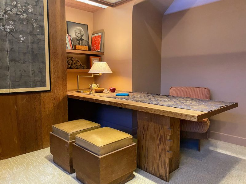 Frank Lloyd Wright office in San Francisco now reassembled and preserved in Erie, PA at the Hagen History Center